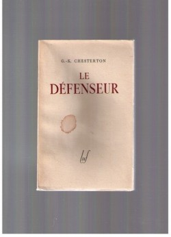 Le défenseur, Chesterton, Gilbert Keith