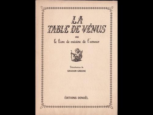 La Table de Vénus ou le Livre de cuisine de l'amour, Douglas, Norman