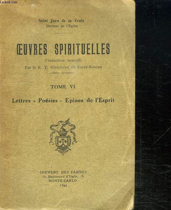Oeuvres spirituelles : [lettres et poésies], Jean (de la Croix ; Saint)