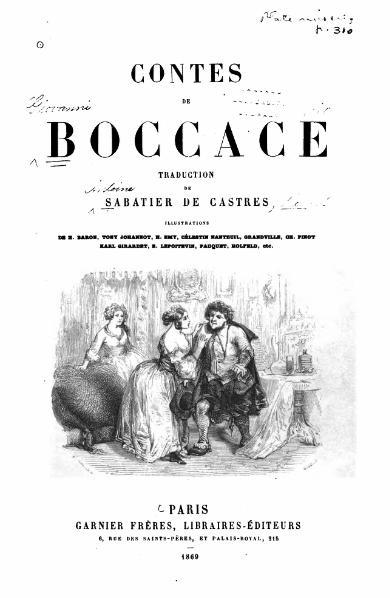 Contes, Boccaccio, Giovanni