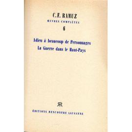 Adieu à beaucoup de personnages, Ramuz, Charles Ferdinand