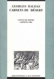 Carnets du désert : carnets 1986, Haldas, Georges