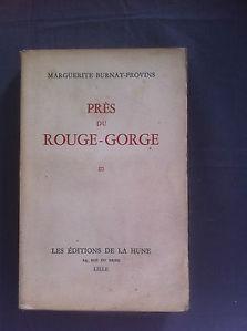 Près du rouge-gorge, Burnat-Provins, Marguerite