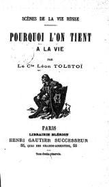 Scènes de la vie russe, Tolstoï, Lev Nikolaevich