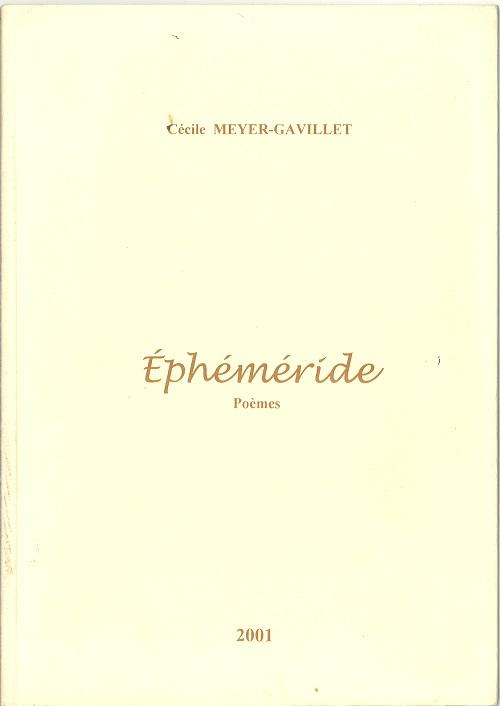 Ephéméride : poèmes, Meyer-Gavillet, Cécile