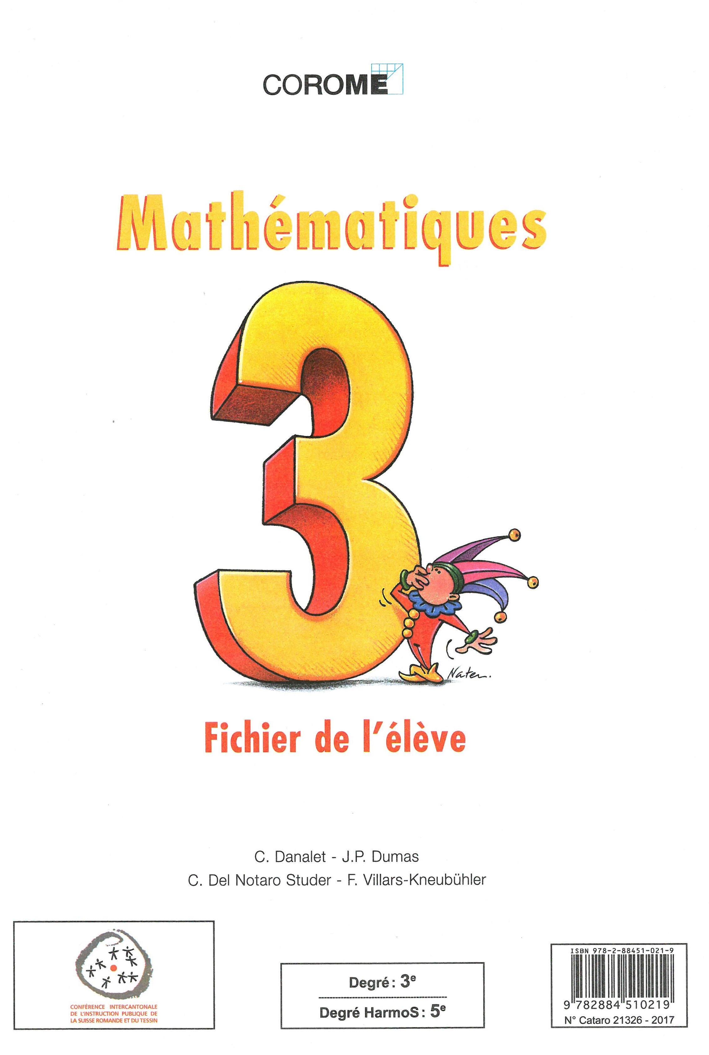 5H – Mathématiques – Fichier de l'élève – 1998, Danalet, Claude