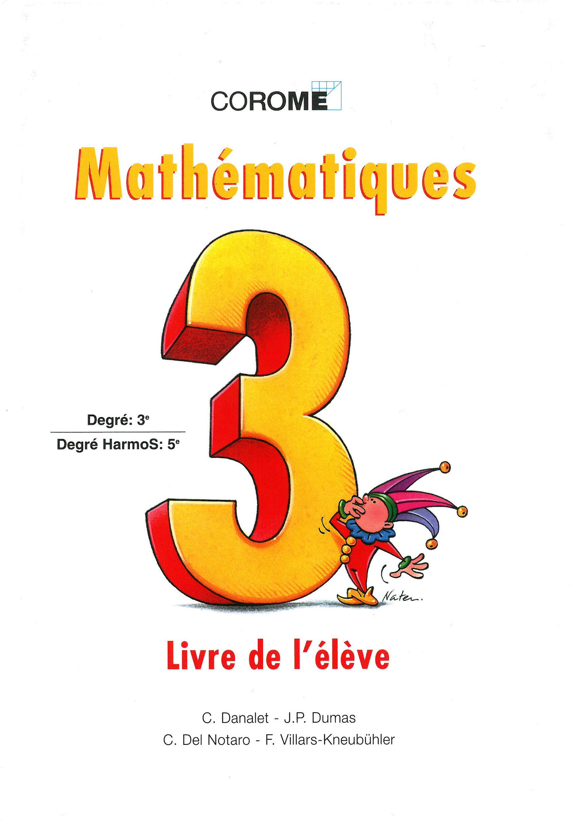 5H – Mathématiques – Livre de l'élève - 1998, Danalet, Claude